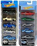 Hot Wheels Drift 5 Fast & Furious Speed Race Set Bundled with Racing 10-car Pack Ford / Impala / Corvette / Porsche / Nissan Skyline / Impala / Gran Torino / Camaro / Monte Carlo 2 Items