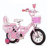 Bicicletas Infantiles para Niños Y Niñas Bicicleta 12 14 16 18 20 Pulgadas,Bicicleta Infantile para Niños De 2 A 12 Años,Bicicletas con Ruedas De Entrenamiento De Los Niños (Size:16inch,Color:pink)