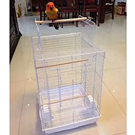 ANJJ Large Bird Breeding Cage/Aviary for African Grey Parrots Cockatiels Parakeets Green Cheeked Conure Lovebirds 40 * 40 * 58cm (white)