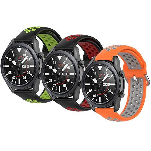 Correas Pulsera Compatible con Huawei Watch gt2 Pro Samsung Galaxy Watch 46 mm Galaxy Watch 3 / Gear S3 45 mm 22 mm Pulsera de Reloj Inteligente para Hombres y Mujeres