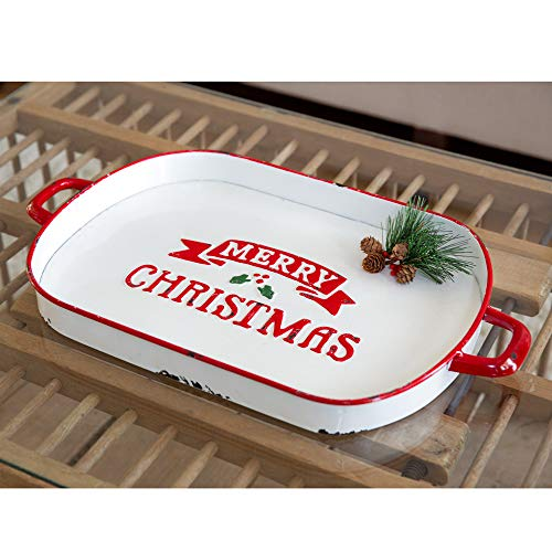 CTW Home Collection Merry Christmas Oval Serving Tray