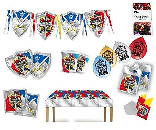 Folat Ritter Partybox Kindergeburtstag 63-teilig Deko Ritterparty Partypaket