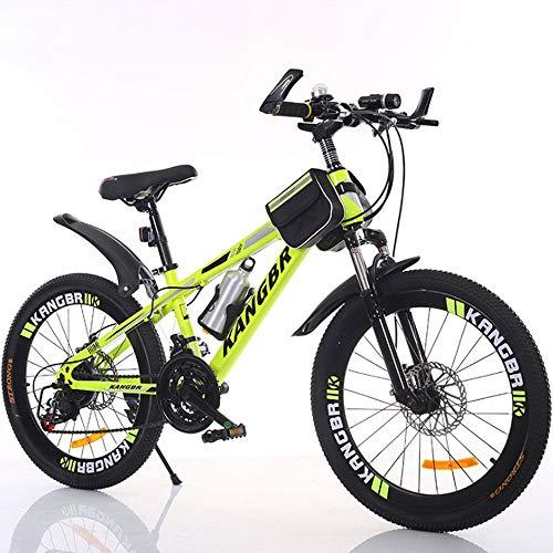 YXWJ Variable adulto bicicleta de montaña velocidad de absorción de choque pintado pintura del freno de disco de bicicletas todo terreno Absorción de bicicletas de montaña de 20 pulgadas de 22