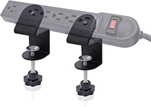 Power Strip Clamp Mount,LANMU Power Strip Desk Mount,Desktop Outlet Power Strip Easy Mount Electrical Piher Clamp Mount to Attach for AmazonBasics,Belkin and Other Mountable Power Strips (Black)