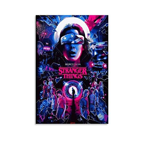 Poster sur toile Stranger Things - Décoration murale moderne pour chambre à coucher - 20 x 30 cm