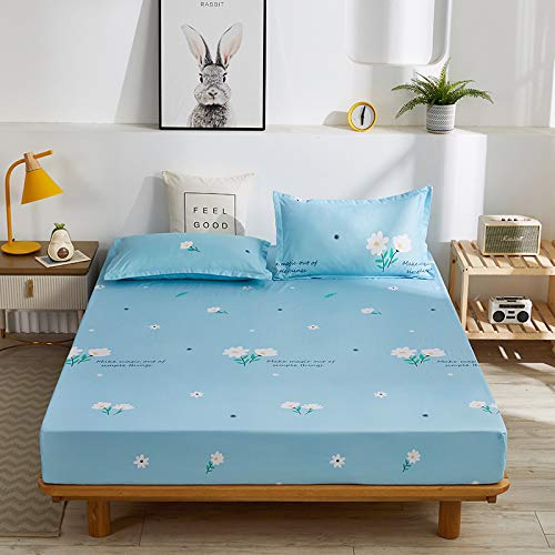 haiba Waterproof Mattress Protector Fitted Bed Sheet Topper Cover Breathable Stain Proof Non-Allergenic & Non-Noisy Easy Fit | king,180cmx200cm+25cm