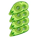 Glue Runner Permanent, Double Sided Adhesive Scrapbook Runner Tape Roller, 0.3-inch by 360-Inch, Permanent Adhesive Dots Roller Applicator, 4 Pack - Green