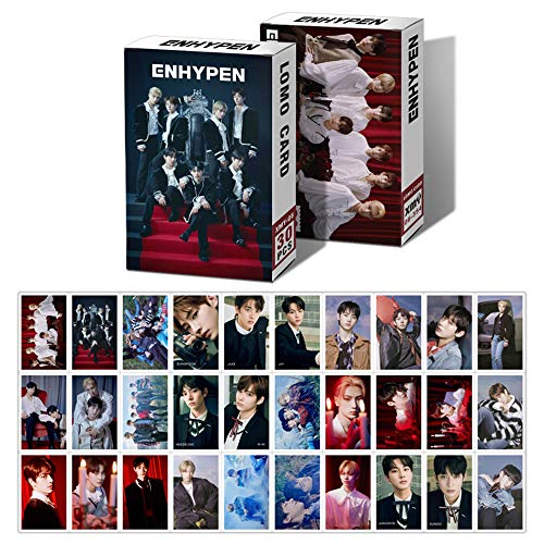 COKOO LOMO Card Photocard Set, NCT NCT DREAM WayV ENHYPEN ATEEZ TREASURE THE 9 KPOP Collection and Best Gift for Fans (30 Pcs/Box ) (ENHYPEN)