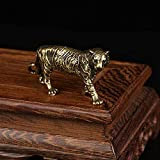 GRJ XYD Small Ornaments- Solid Brass Big Tiger Figurines Ornaments Pure Copper Animal Tigers Model Statue Miniatures Desk Decorations Vintage Home Decor Commodity Code: LJW-1288