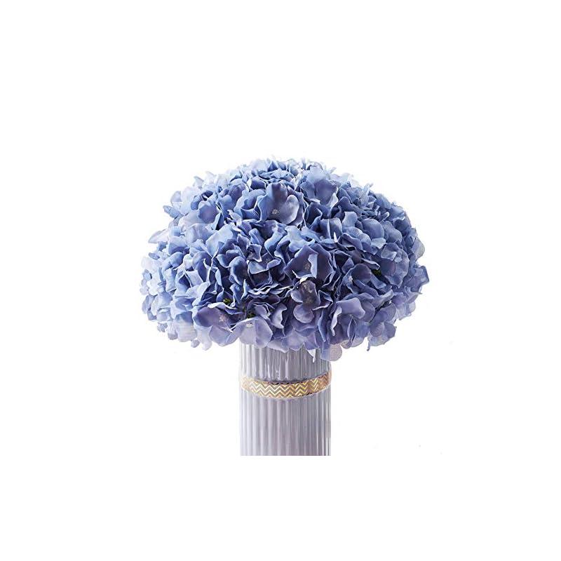 silk flower arrangements atinart dusty blue artificial flowers hydrangea silk flowers big hydrangea flowers heads pack of 10 for home wedding party shop baby shower bridal shower bouquets table centerpiece decor