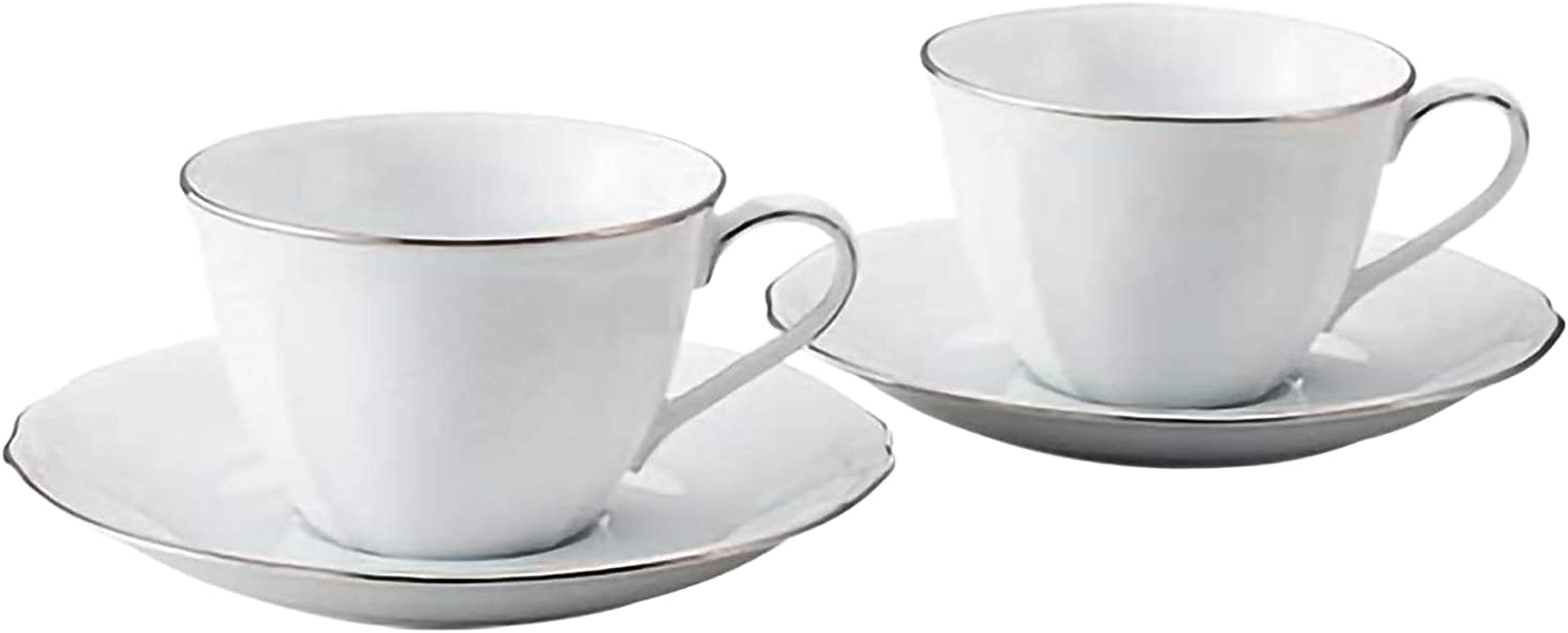 Noritake cafe au lait cup New popularity and Princess saucer set b Max 78% OFF 260cc pair