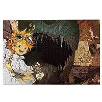 約束のネバーランド パズル 木製 300ピース アニメ キャラクター ジグソーパズル ノーマン レイ エマ ドン ギルダ 萌えグッズ パズル 子供 大人 初心者向け 楽しい ギフト プレゼント 約38*26cm