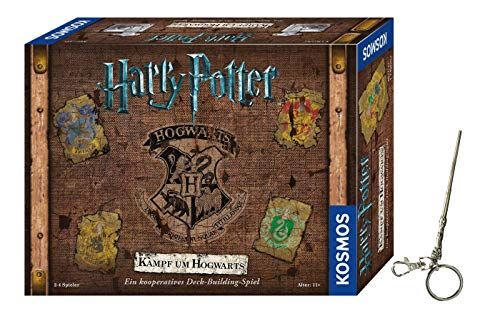 Kosmos 693398 Harry Potter Kampf um Hogwarts Harry Potter - Juego de batalla de Hogwarts y llavero de Harry Potter