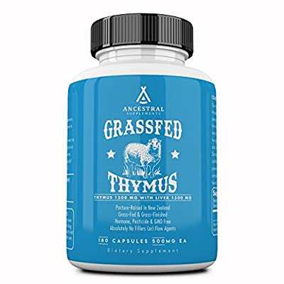 Ancestral Supplements Grass Fed Thymus Extract (Glandular) — Supports Immune, Histamine, Allergy Health (180 Capsules) from Ancestral Supplements