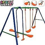 Deuba 2en1 columpio y balancín de acero Azul y Naranja juego para niños de...