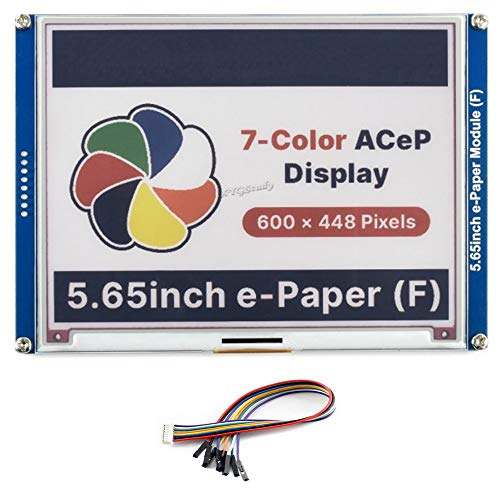 """5.65 inch ACeP 7-Color E-Paper E-Ink Display Module Screen 600×448 Pixels SPI Interface 5.65"""" Colorful Paper-Like Wide Viewing Angle Low Power Consumption for Raspberry Pi Jetson Nano @XYGStudy"""