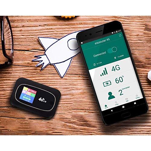 Senmubery Tragbarer Mobiler Hotspot MiFi 4G LTE 300 Mbit/S WLAN Router SIM Karte Entsperrt Global 2.4G WLAN Router Wei?