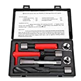 10Pcs M18x1.5 Thread Repair Kit High-Strength Stainless Steel Twisted Drill Tap Wrench Threaded Insert Tools Set for Automotive Parts