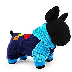 """'chiots Grenouillère Vêtements """"I & # x2764–Maman/I & # x2764?; Papa upxiang Animal Manteau pour chien Costume Vêtements chauds d'hiver, chiot Pull, chien chat shirt Habillement"""
