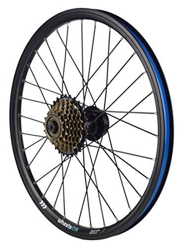 wheelsON 20 inch Rear Wheel +7 Speed Shimano Freewheel Disc Brake Folding Bike QR Black