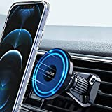 Ciencimy Magnetic Car Mount Compatible with MagSafe Case and iPhone 12 Pro Max Mini, 360° Adjustable Strong Magnet Air Vent Phone Holder, No Metal Plate Needed