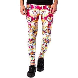 New Fashion Leggings for Men, Slim Long Pants for Night Club, Yoga, Gym, Cycling (Small, Circo Loco):Carsblog