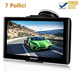 GPS Navigatore Satellitare Auto Touch Screen, Avviso Traffico Vocale, Limite di Velocit Promemoria...