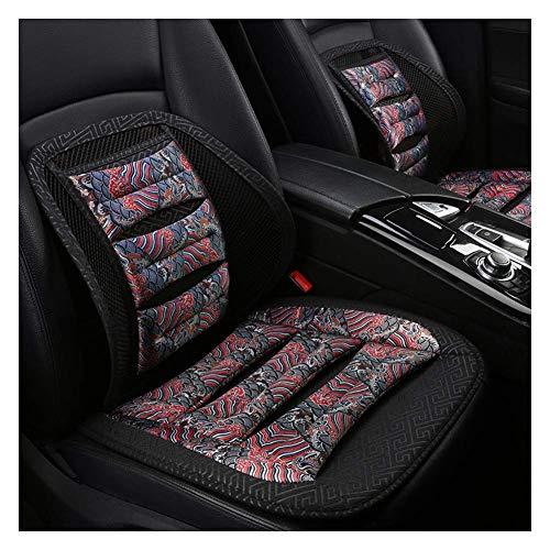 Preisvergleich Produktbild ZFSWMY Autositzbezug Protector Cush Summer Cool Pad Matte Atmungsaktiv für Autozubehör Bürostuhl Polyester 1 Stück / 2 Stück / 3 Stück (Farbe: Schwarz,  Größe: B)