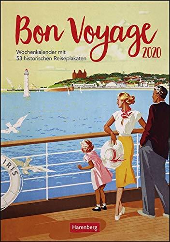Bon Voyage Wochen-Kulturkalender. Wandkalender 2020. Wochenkalendarium. Spiralbindung. Format 25 x 35,5 cm