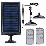 Kyson Lámpara de techo solar de doble cabeza IP65, impermeable, luz de...