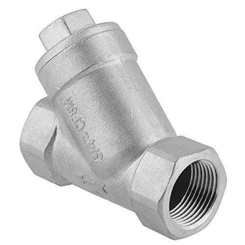 Suchinm Schmutzfänger-Rohrverschraubung, 3/4 Zoll DN20 PT-Gewinde Edelstahl Y-Schmutzfängerpumpe für Wasser, Öl und Gas für die industrielle Heimanwendung