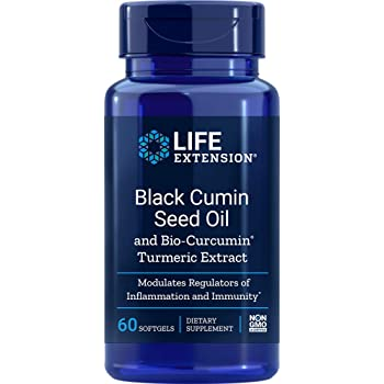 Life Extension Black Cumin Seed Oil with Bio Curcumin 60 Softgels