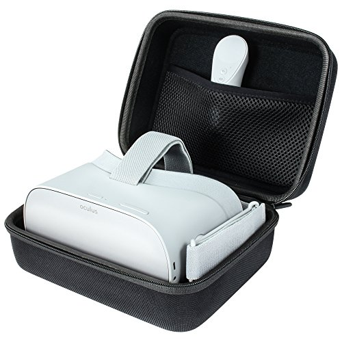 reVRsed Premium Tasche für Oculus Go, Samsung Gear VR und Virtual Reality Brille inkl. Zubehör (Dark-Black)