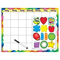 Trend Enterprises Inc. T-27808BN Rainbow Gel Monthly Calendar (Cling Accents) Wipe-Off Kit Pack of 6 Kits [並行輸入品]