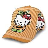 N - A Gorra de béisbol Lucky He-Llo-Kitty con protección solar de poliéster ajustable, unisex, para camionero, color negro