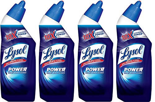 Lysol Power Toilet Bowl Cleaner, 10X Cleaning Power 8 oz (Pack of 4)