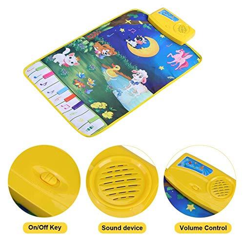 Rishx-toy Baby-Piano Mats Musik Teppiche Baby Animal Touch Play Spiel Kinder Krabbeln Klavier Teppich Educational Musical Geschenke Spielzeug for Kinder