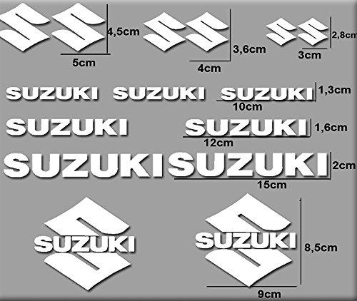 Ecoshirt RV-IJ8K-NSS0 Pegatinas Moto Rgsx Suzuki R169 Stickers Aufkleber Decals Autocollants Adesivi, Blanco