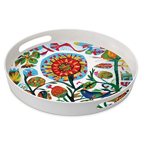 Home Collection Maison Cuisine Vaisselle Accessoires Plateau de Service avec Poignées Apéritif Motif Multicolore à Motifs