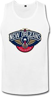 メンズ ファッション ニューオーリンズ 警察 徽章 ロゴ ランニング シャツ 体に合う White
