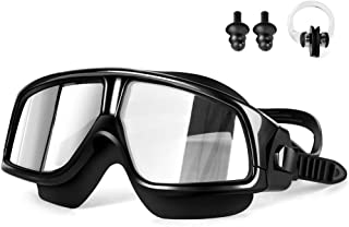 Swim Goggles, Bestimulus Swimming Goggles with Ear Plugs and Nose Clip No leaking Anti Fog UV Protection for Men Women