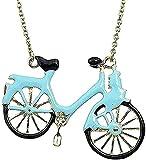 Halskette Nette Halskette Blaues Öl Fahrrad Legierung Halskette Geschenk für Frauen Mann Geschenke