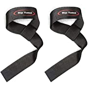"Rip Toned Lifting Straps (Pair) Wrist Straps for Weightlifting, Bodybuilding, Powerlifting, Xfit, Strength Training, Deadlift, MMA - Neoprene Padded - 23"" Cotton Straps - Men or Women"