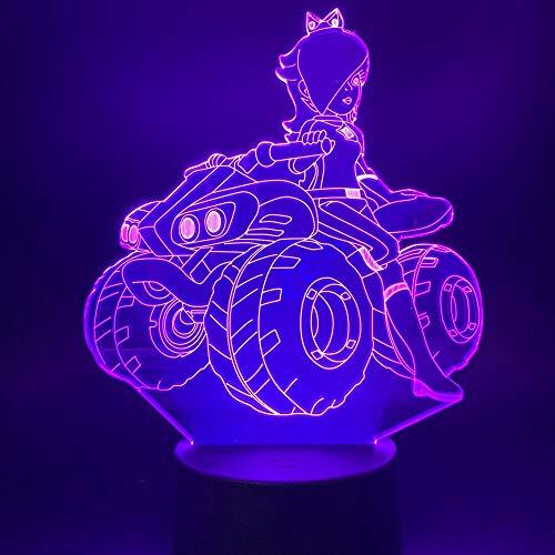 shiyueNB 3D illusie LED nachtlampje schoonheid meisjes rijden een quad voor kantoor thuis werkkamer decoratief licht slaapkamer tafellamp geschenk