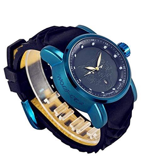 Thumby Praktische Horloges Casual Business Mannen Horloge Rubber Band Sport Horloge Kalibratie Kleine Cirkel Mannen Arabische Numeralen Pols Decoratieve Horloge Armband Blauw