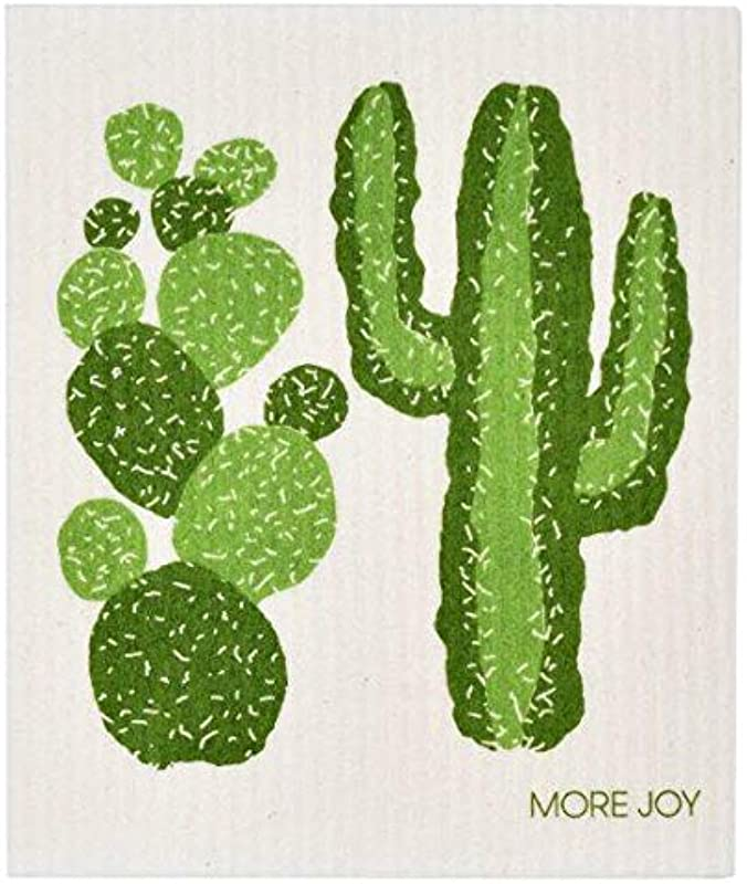MORE JOY Swedish Dishcloth Cactus Eco Friendly Set Of 2 Green