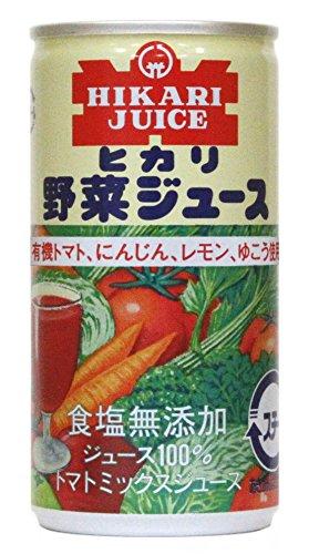 光食品 有機トマト・にんじん・レモン・ゆこう使用 野菜ジュース 食塩無添加 190g×30本