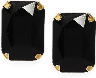 Zaveri Pearls Contemporary Style Black Stud Earring For Women-ZPFK8707