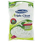 DenTek Triple Clean Floss Picks, Mouthwash Blast, 90 Picks each (Value Pack of 2)