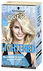 Go blonde with up to 8 levels of lift. Hair dye with anti-yellow effect for a clear, striking blonde. After lightening, you can be playful with our creative colors! In the box: 1 tube lightening cream, 1 applicator bottle with developer lotion, 1 sac...